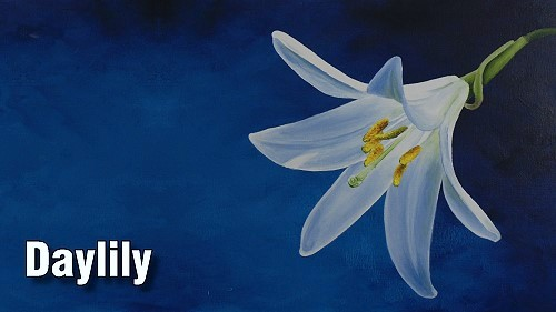 how to paint daylily acrylic