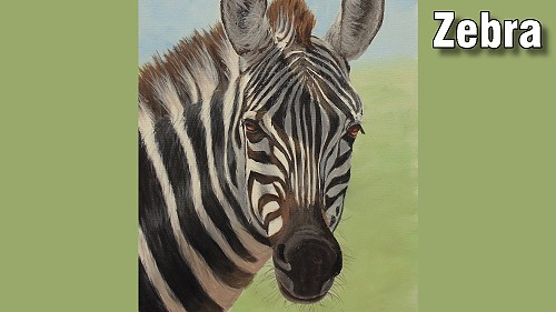 how to paint a zebra in acrylic