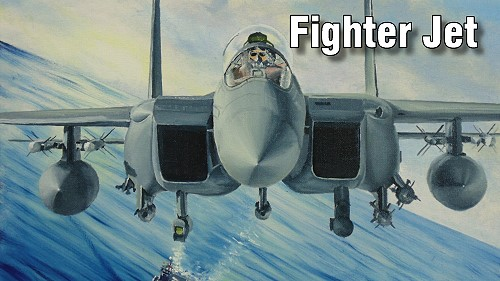 how to paint fighter jet avaition art