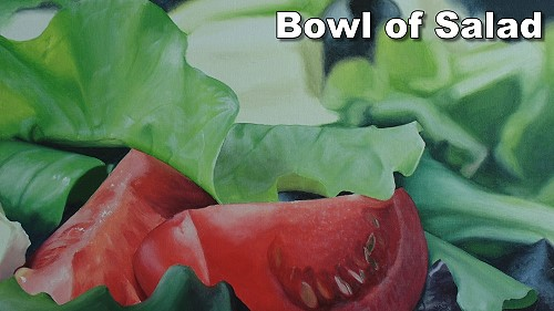 how to paint salad lettuce tomato