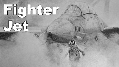 Online Art Class  How to Draw a Fighter Jet  Paint Basket TV