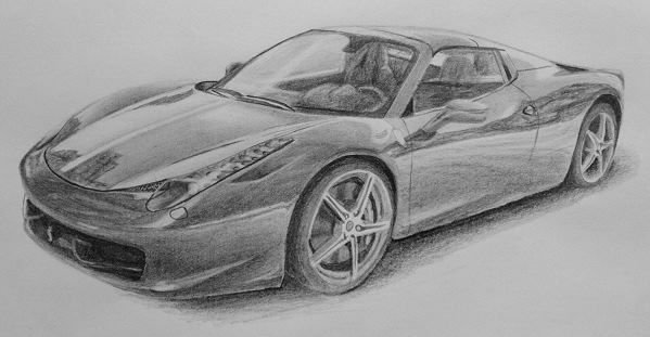 how to draw cars ferrari