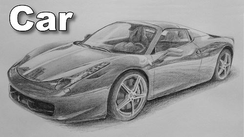 how to draw car pencil
